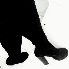 Acne heels och korviga strumpor