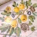 Citronen är i centrum och avbildas överallt. Här på golvet i kyrkan i Anacapri.